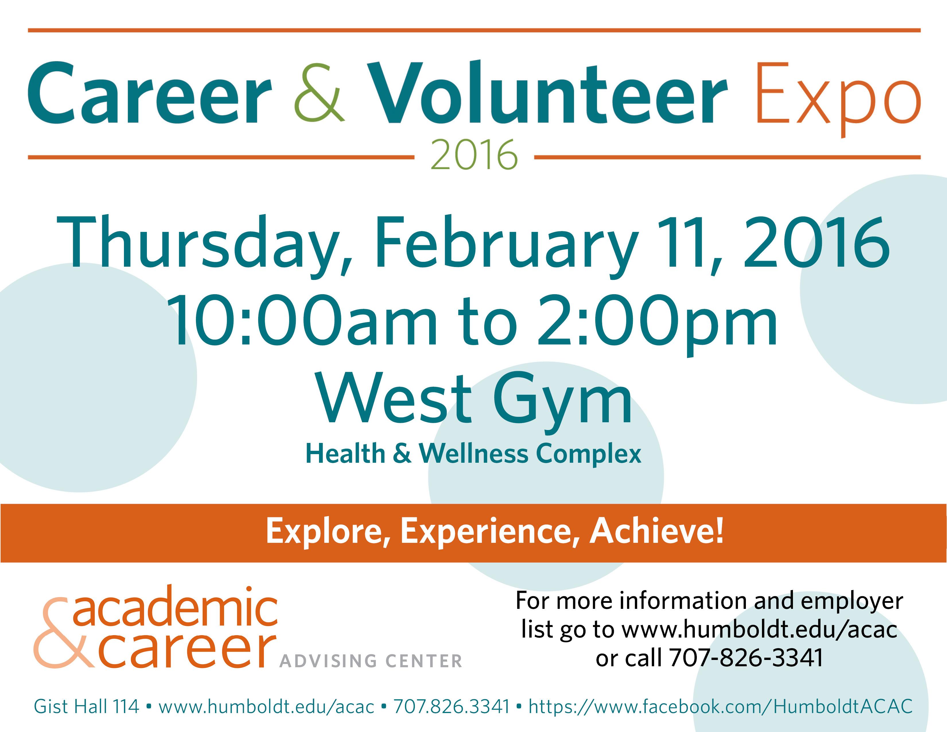 career volunteer expo myhumboldt message center humboldt career expo for monitors 2016 jpg